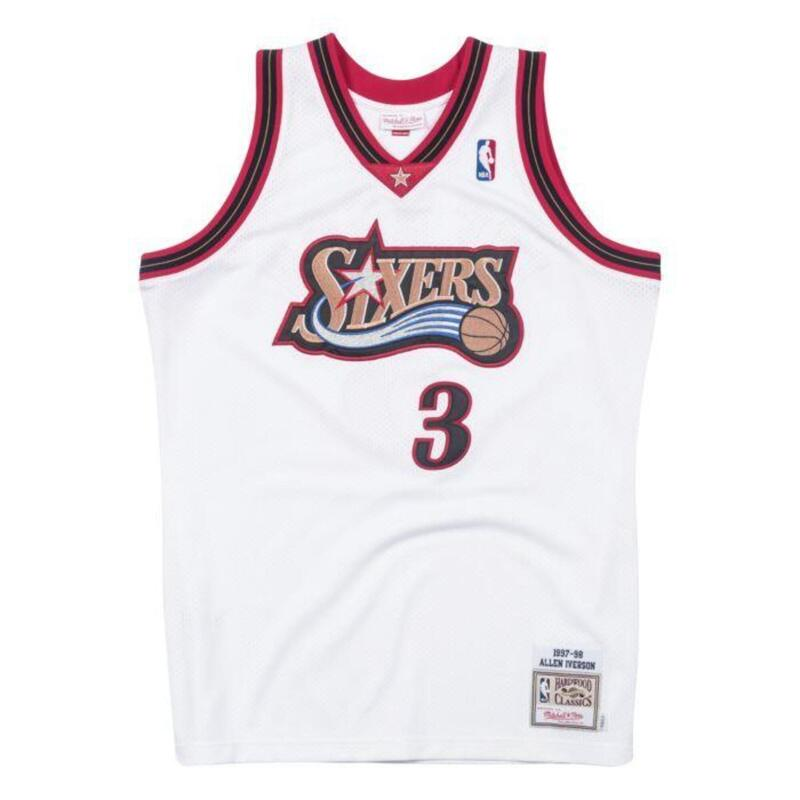Authentieke Philadelphia 76ers Allen Iverson Jersey 1997-1998