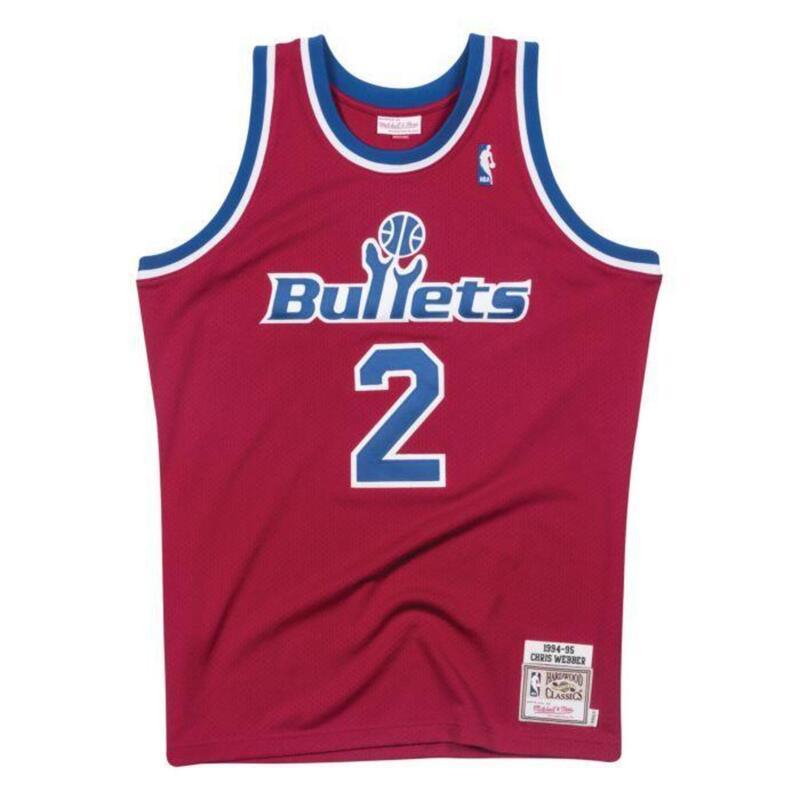 Authentieke Washington Bullets Chris Webber 1994-95 Jersey