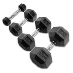 Body-Solid Hexagon Rubber Dumbbell 40 kg - per Paar
