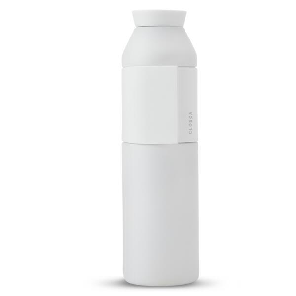 Bouteille d'eau en acier inoxydable 600 ml. (Closca Bottle Wave) Blanc
