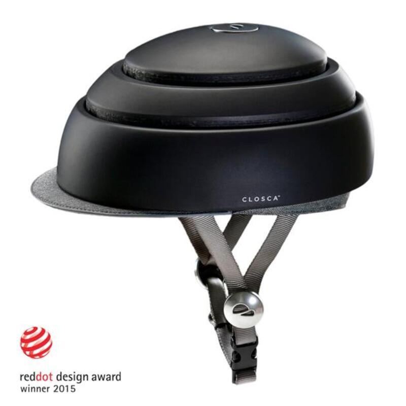 Casco Ciclismo Adulto, Plegable (Classic Helmet) Negro