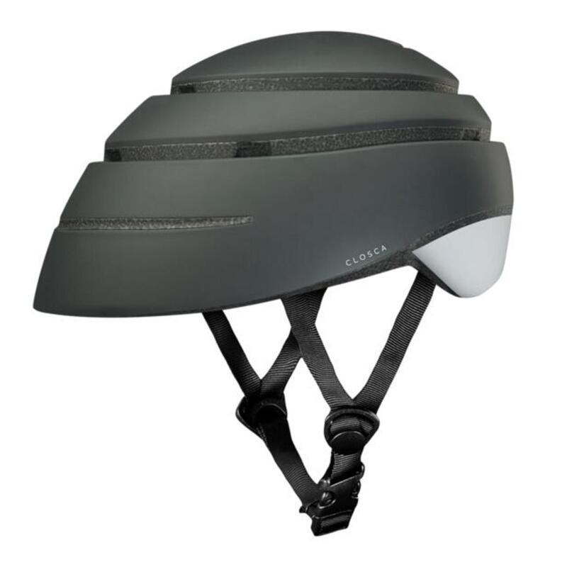 Casque de cycliste pour adultes, pliable (Helmet LOOP) Graphite-Blanc
