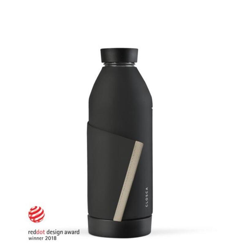 Bouteille d'eau en verre 420 ml. (Closca Bottle) Noir