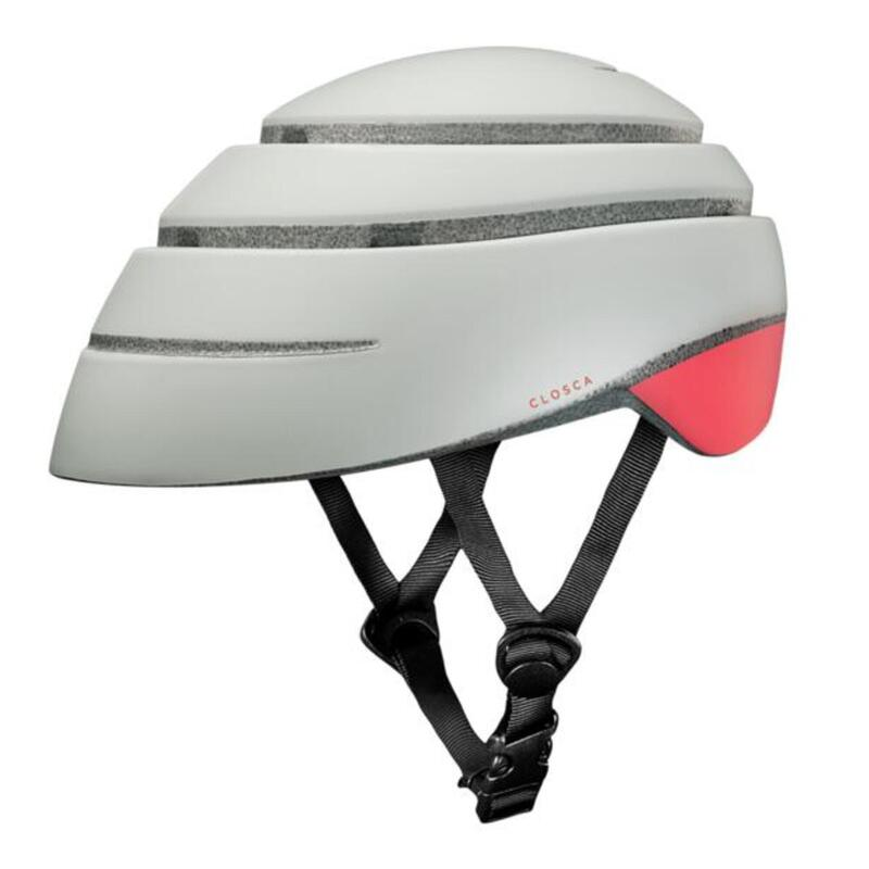 Casque de cycliste pour adultes, pliable (Helmet LOOP) Perle-Corail