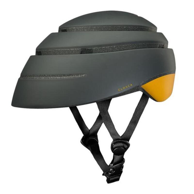 Casque de cycliste pour adultes, pliable (Helmet LOOP) Graphite-Moutarde