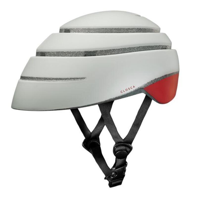Casco de Bicicleta Plegable (Helmet Loop, Perla / RED WINE)