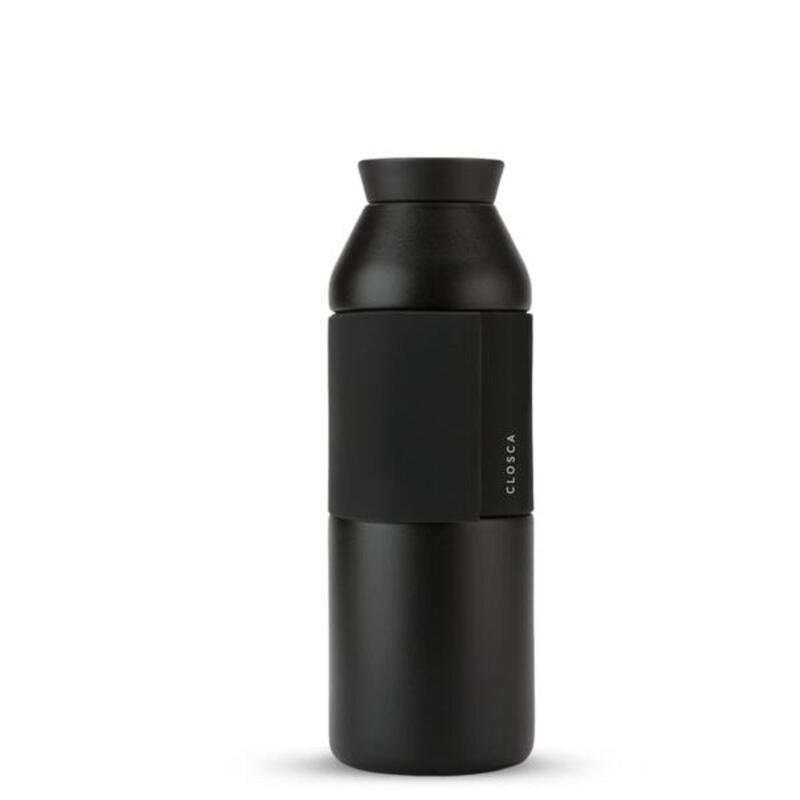 Borraccia in acciaio inox da 450 ml. (Bottle Wave) Nero