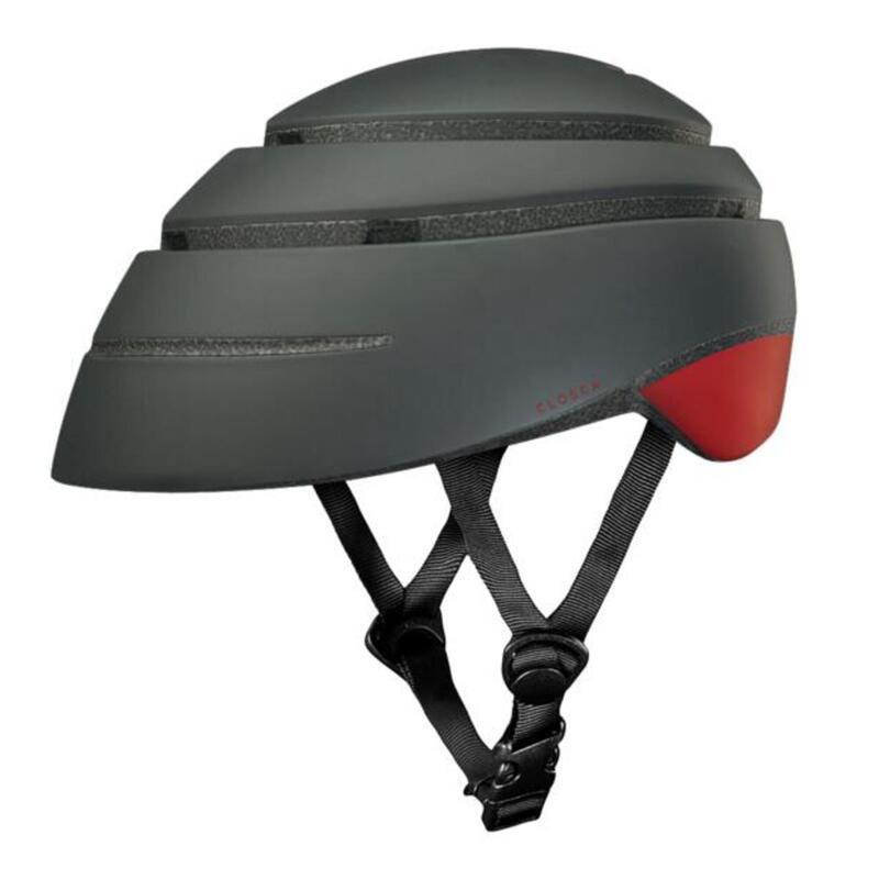 Casque de cycliste pour adultes, pliable (Helmet LOOP) Graphite-Rouge