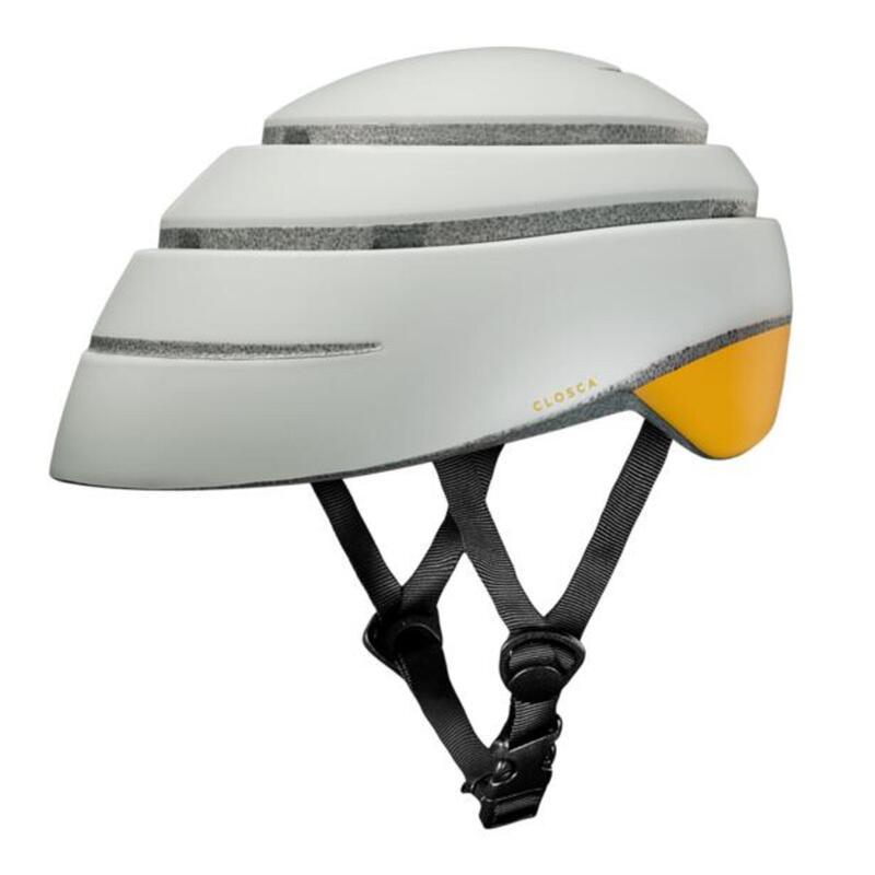 Casque de cycliste pour adultes, pliable (Helmet LOOP) Perle-Moutarde
