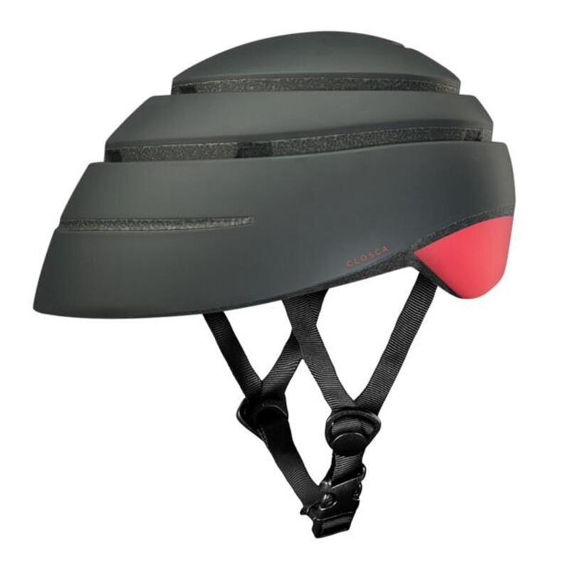 Casque de cycliste pour adultes, pliable (Helmet LOOP) Graphite-Coral