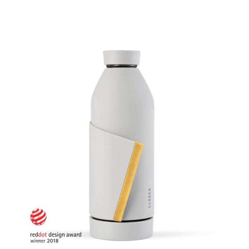Botella de agua de vidrio de 420 ml.(Classic Bottle) Blanco