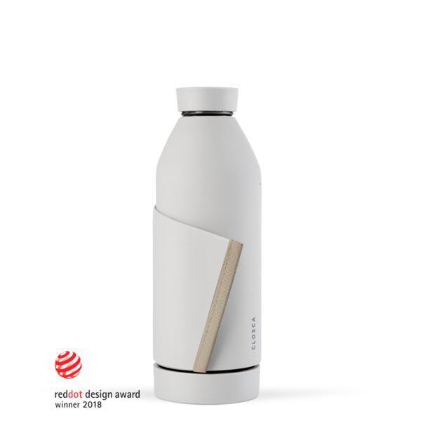 Bouteille d'eau en verre 420 ml. (Closca Bottle) Blanc