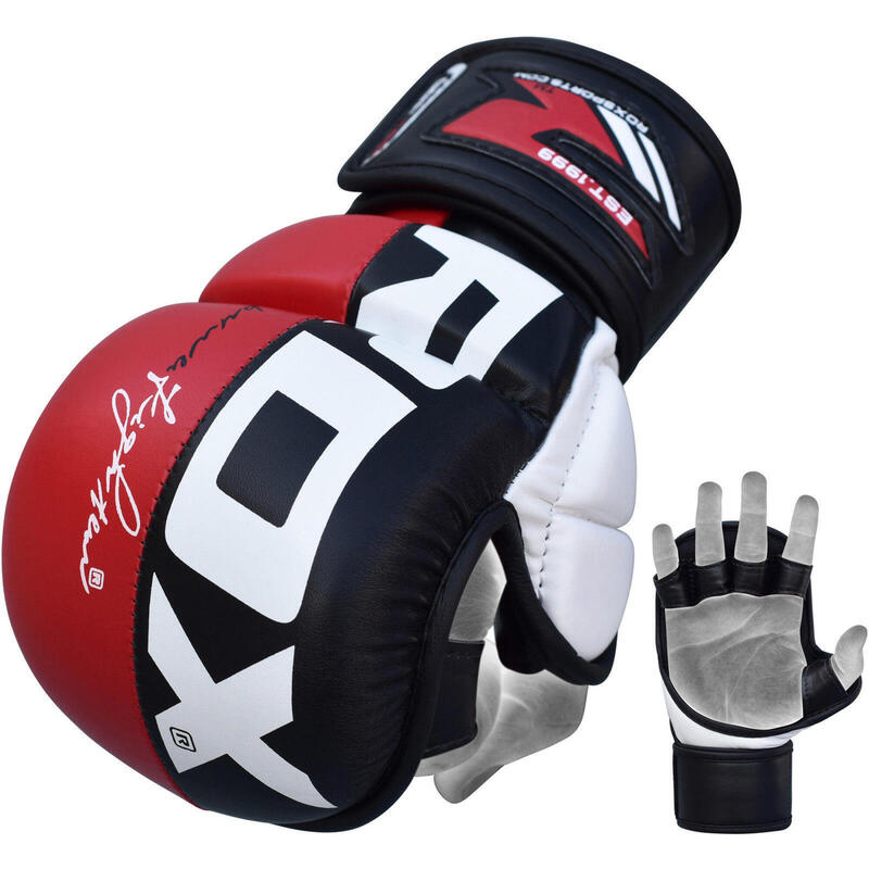 RDX Sports Sparringhandschoenen REX Rood T6 - Maat: M