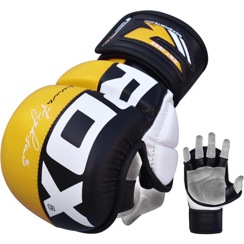 RDX Sports Sparringhandschoenen REX Geel T6 - Maat: M