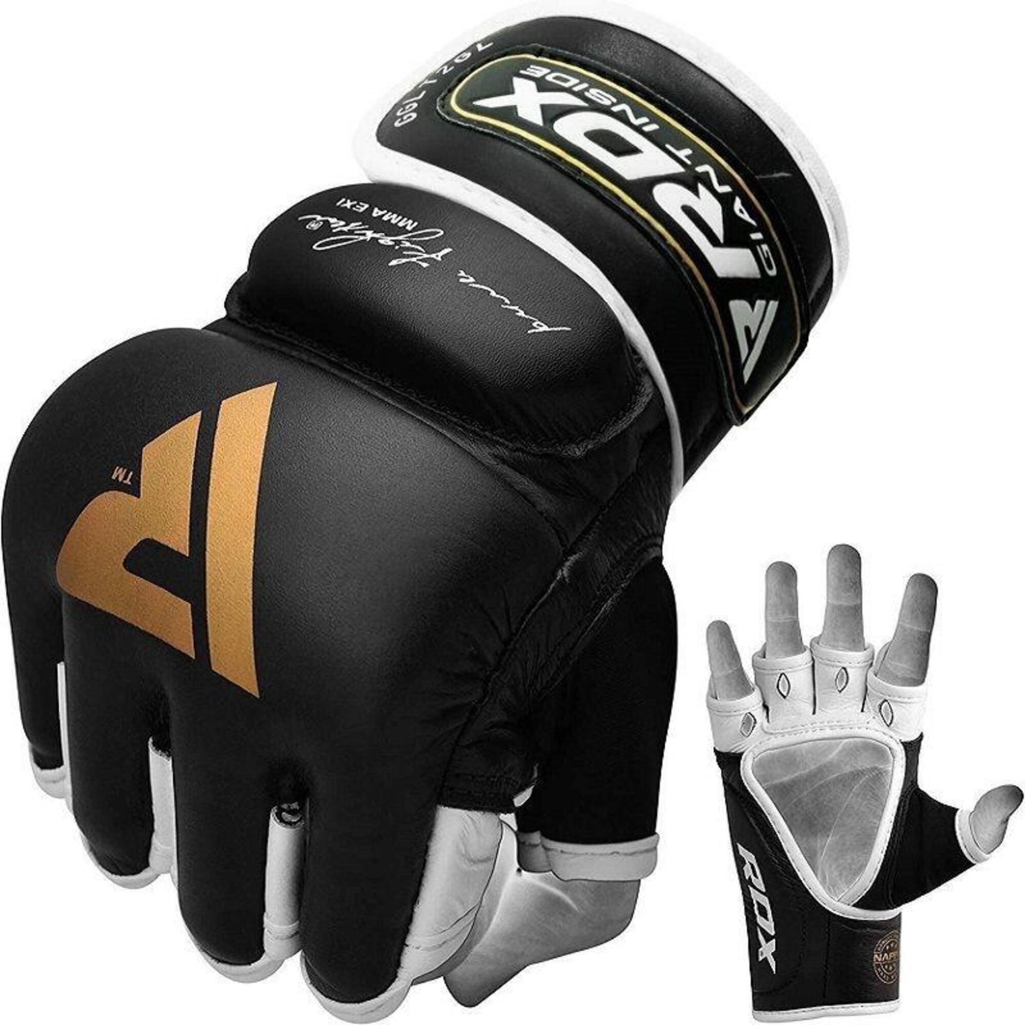 T2 Leather MMA Handschoenen - Goud / Zwart - Leer - Extra Large