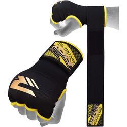 RDX Hosiery Inner Strap - Binnenhandschoenen met polsband - Zwart/Geel -  M