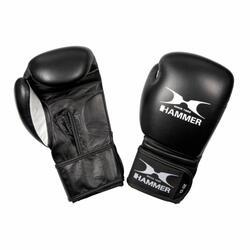 Hammer Boxing Bokshandschoenen PREMIUM FITNESS - buffelleer - zwart - 10 OZ