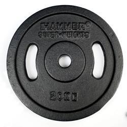 Halterschijven Gietijzer - 2x 20 kg - Zwart - 30 mm