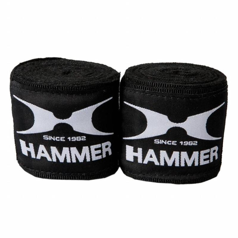 Hammer Boxing Bandages - per Paar - 4,5 meter - zwart
