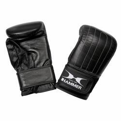 Hammer Boxing Zakhandschoenen Punch - Leer - Voorgevormd - Zwart - Maat L/XL