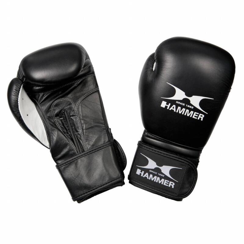 Hammer Boxing Bokshandschoenen PREMIUM FIGHT - Leer - Zwart - 14 OZ