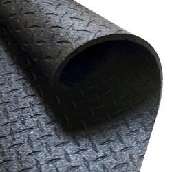 Beschermmat/Vloermat - 183 cm x 122 cm x 1,27 cm - Zwart - Rubber