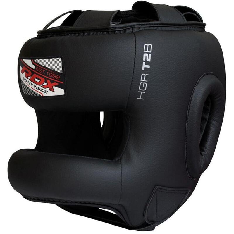 RDX T2 Gel Padded Nose Protection Casque de Boxe noir -  M