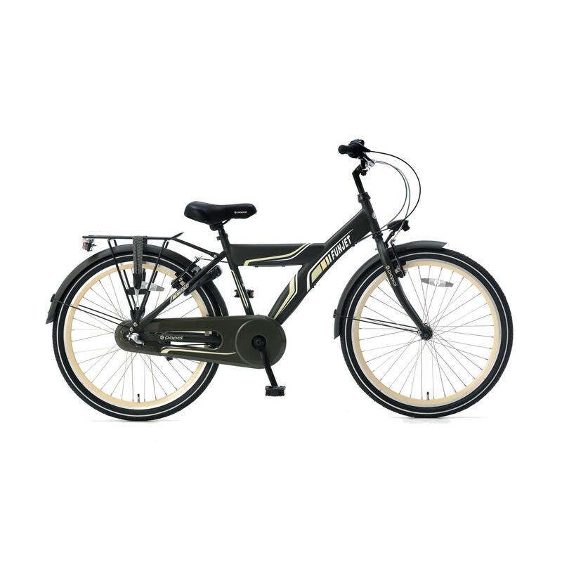Vélo pour enfants Super Super Funjet N3 - 24 pouces - Vert armée