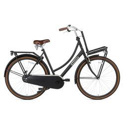 Vélo de transport Popal Daily Dutch Basic - Femme - 57 cm - Noir Mat