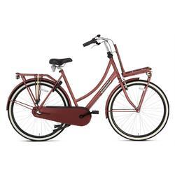 Vélo de transport Popal Daily Dutch Basic+ - Femme - 57 cm - Rouge