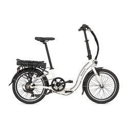 Vélo pliant électrique Popal E-Folt 1.0 - Blanc - 20 pouces