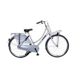 Vélo Popal Daily Dutch Basic Ladies - Vélo de transport - 57 cm - Argent
