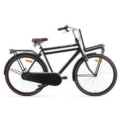 Vélo homme Popal Daily Dutch Basic + - Vélo de transport - 57 cm - Noir