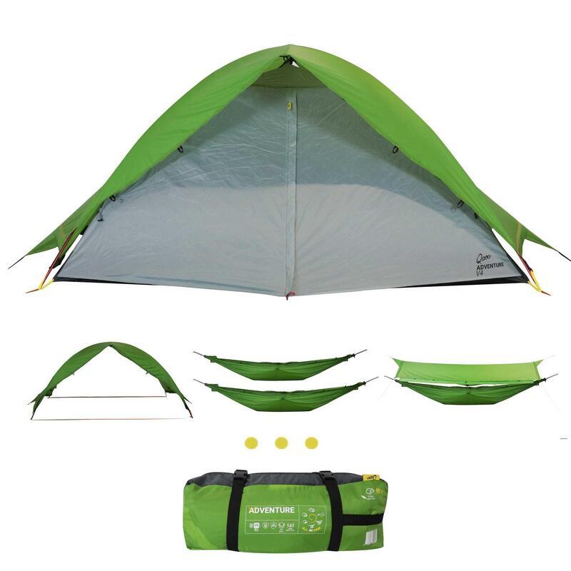Tente de camping 6 fonctions en 1, Tente, tente auvent, hamac, hamac cocon..