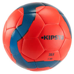 Zaalvoetbal F300 hybride maat 4 rood/blauw