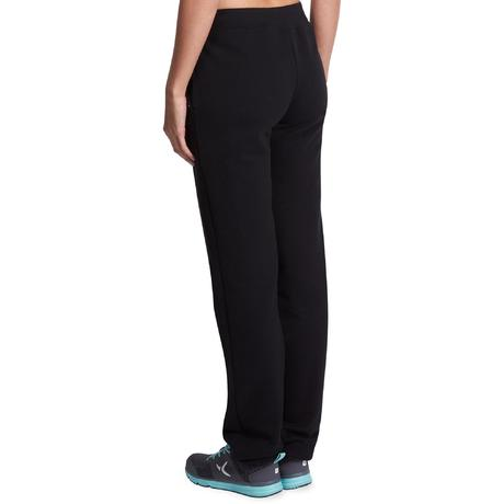 85bfd8bfc8612 Pantalon 500 regular Gym Stretching femme noir | Domyos by Decathlon