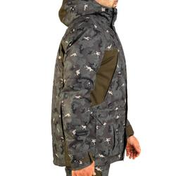 Parka chasse imperméable chaude 500 camouflage island vert