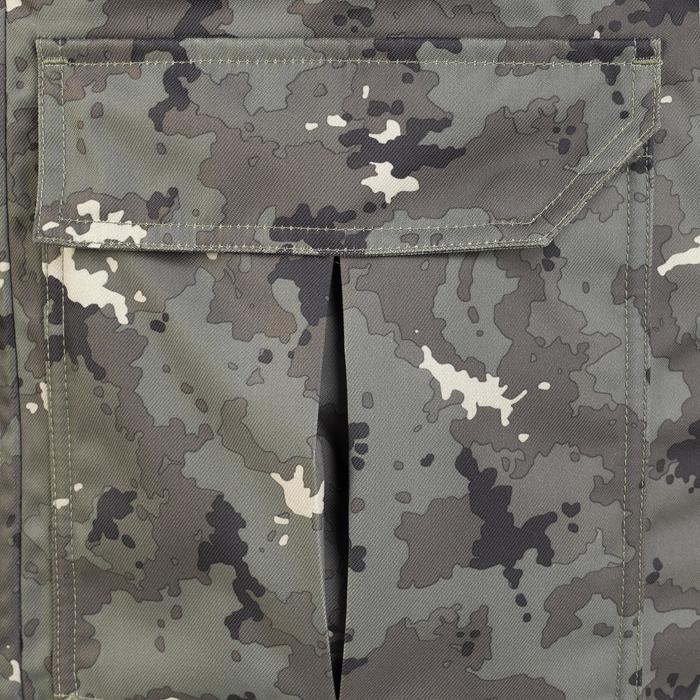 Warme waterdichte jagersparka 500 groen met Island camouflage