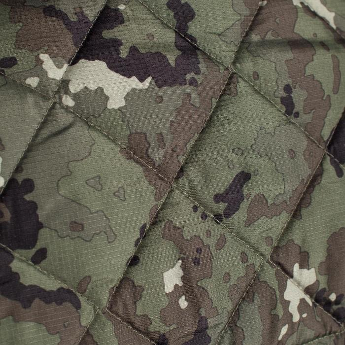 Gilet matelassé chasse 100 camouflage vert