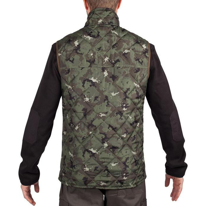 Padded hunting gilet 100 camouflage - green - 1000552