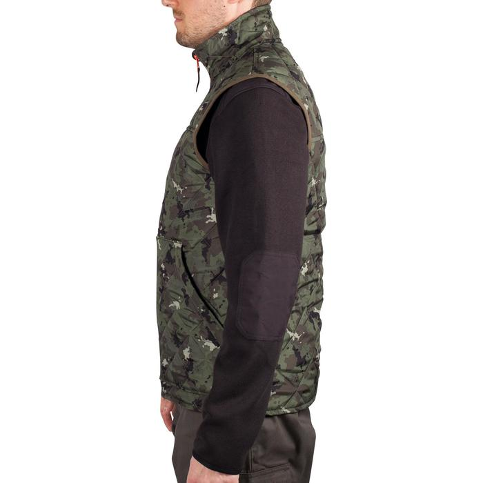Padded hunting gilet 100 camouflage - green - 1000553