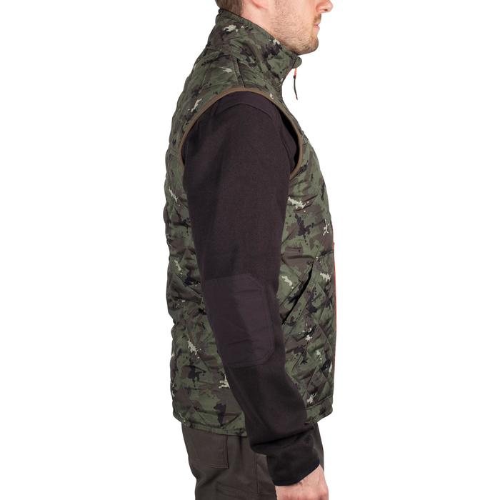 Gewatteerde bodywarmer voor de jacht 100 camouflage groen