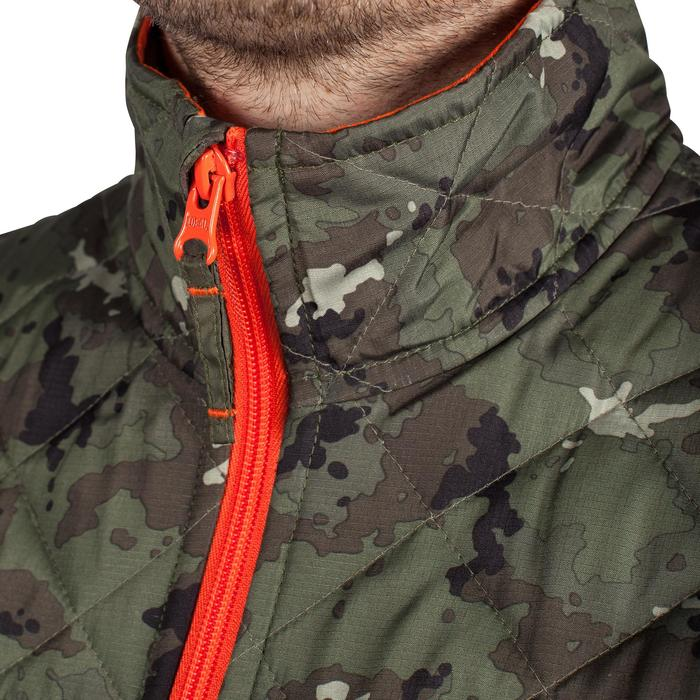 Padded hunting gilet 100 camouflage - green - 1000556