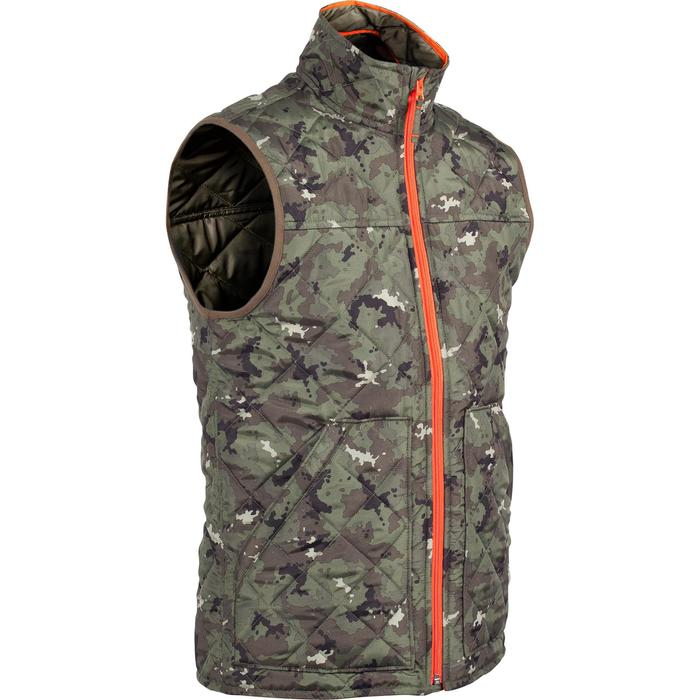 Padded hunting gilet 100 camouflage - green - 1000560