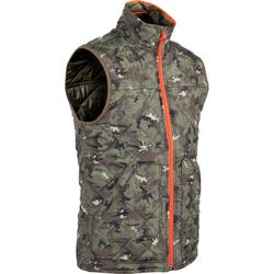 Padded hunting gilet 100 camouflage - green