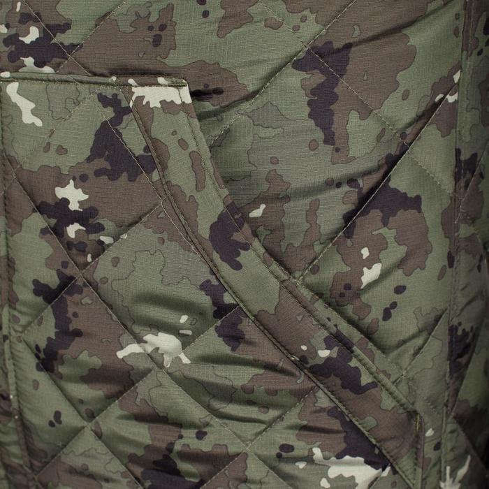 Padded hunting gilet 100 camouflage - green - 1000562