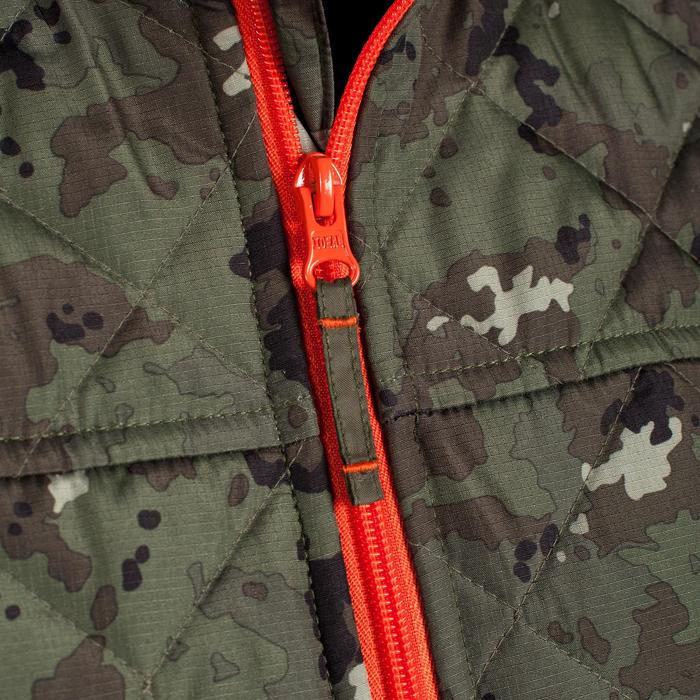 Padded hunting gilet 100 camouflage - green - 1000567