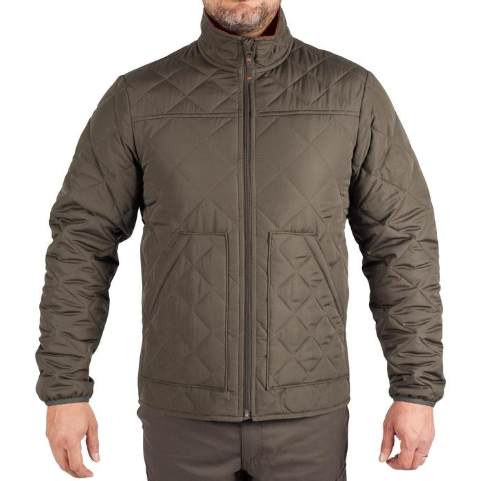 Quilted hunting jacket 100 - camouflage green - 1000575