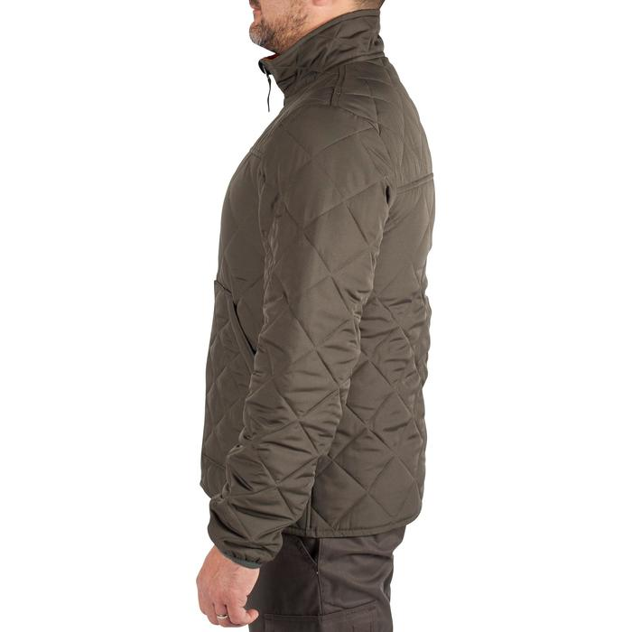 Quilted hunting jacket 100 - camouflage green - 1000577