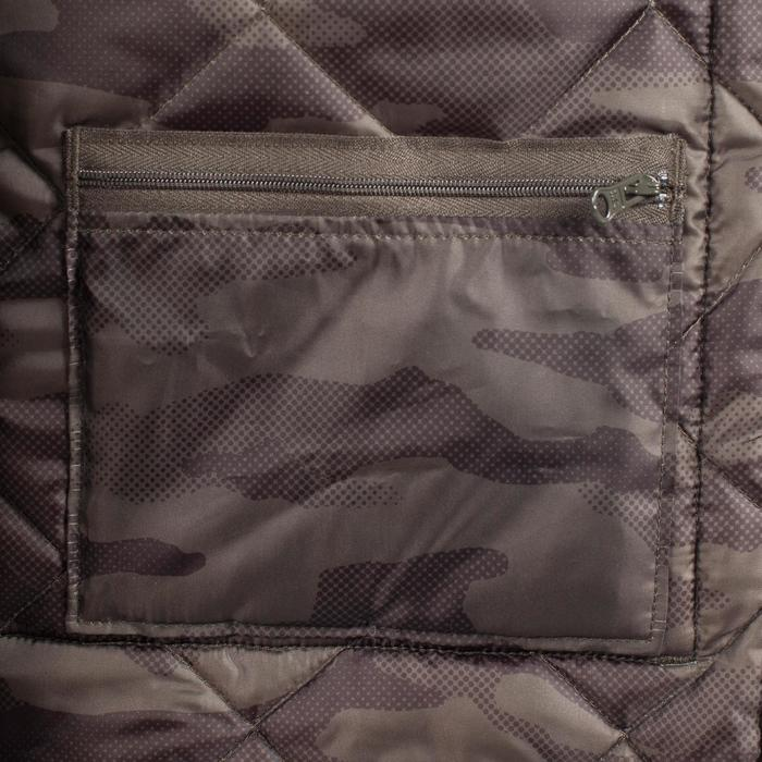 Quilted hunting jacket 100 - camouflage green - 1000579
